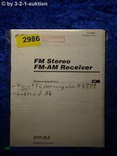 Sony Bedienungsanleitung STR SL5 FM/AM Receiver  (#2986)