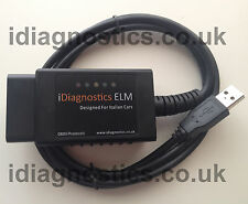 DIAGNOSTICS FIAT ALFA DIAGNOSTIC CABLE ELM OBD2 CAN ECU *MODIFIED* MULTIECUSCAN