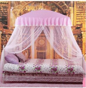 Mosquito Net Bed Canopy Pink Princess bedding  fits twin / Queen / King