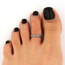 Celebrity Fashion Simple Retro Flower Design Adjustable Toe Ring Foot Jewelry B2
