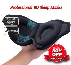 Professional 3D Blindfold Sleep Masks Eye Masks Cover 3D Memory Foam Soft Padded