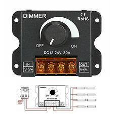 DC 12V/24V 30A Led Switch Dimmer Controller For Led Strip Single Color Black