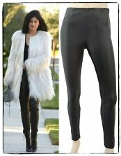 KYLIE KARDASHIAN's TOPSHOP Leggings UK 6 Black Faux Leather Pants 2
