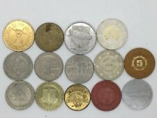 Vintage Collection Of 14 Casino Tokens Incl. The Sands, Mirage, Oasis, Pioneer +