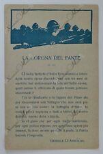 """Cartolina Prima Guerra Mondiale - """"La corona del Fante"""" Franchigia 5° Armata WWI"""