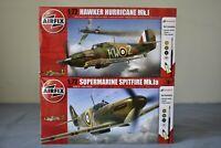 Airfix Spitfire Mk.Ia + Hawker Hurricane 1:72 Bundle with Paint Glue Brush