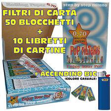 10 Cartine Lunghe Pop Filters 50 Filtri di Carta a cartoncino Pop Filters 1 BIC