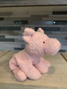 Retired Terry Cloth Plush Beanie Stuffed Mini Soft Pink Pig By Russ Toys