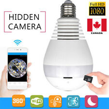 Wifi  360 Degree HD 1080P Hidden Fish Eye Bulb Camera LED Light CCTV Security  C