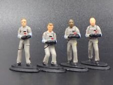 GHOSTBUSTERS FIGURES ALL FOUR MALE RARE 1:64 COLLECTIBLE DIORAMA PIECE SET