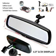 "4.3"" Reversing Dimming Rear View Mirror Monitors With LED Camera Night Vision"