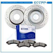 Front Brake Discs Rotors Ceramic Pads Kit For Chevy Buick Envoy Olds GMC Isuzu