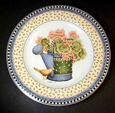 Debbie Mumm plate Spring Bouquet GERANIUMS Sakura 1999 8.25\  & Sakura Stoneware Dinnerware Plates   eBay