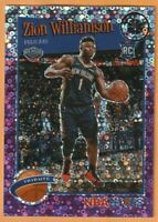 2019-20 NBA Hoops Premium Stock Zion Williamson Tribute Rookie Purple Disco #296