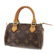 Louis Vuitton Mini Speedy Hand Bag Monogram Leather M41534 Vintage Auth #OO660 S