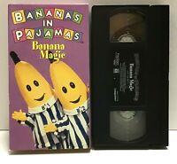 Bananas In Pajamas Banana Magic VHS 1997 Video Rare Hard To Find