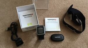 TomTom RUNNER GPS Watch & HEART Rate Monitor & Strap TESTED Ref:34