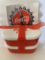 Vintage 2002 Coca Cola Club Tiny Bento Box W/ Black Grimed Sticker Coke Japan