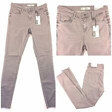 NWT Topshop Moto Jeans Skinny Super Soft Ankle Grazer Gray Leigh 28 x 32
