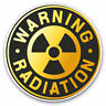 2 x Vinyl Stickers 7.5cm - Warning Radiation Sign Nuclear Cool Gift #7151