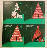 Starbucks 2019 DIY Merry Little Tree Gift Card Set of 4 Christmas Holiday NEW