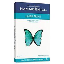 "Hammermill Laser Print Paper 24lb 98 Bright 8-1/2 x 14"" - Ream New"