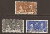 BRITISH GUIANA KGVI 1937 SG305/307 Coronation Set - Fine Used (JB11463)