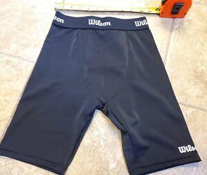 Wilson compression shorts w/cup pocket - black - Men's Small