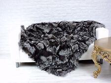 Lujo, real plata zorro manta Lanza, 200 X 160CM i764
