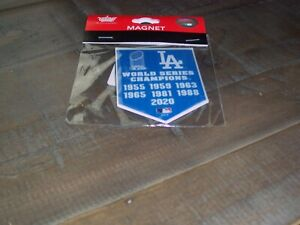 NEW 2020 Issue Los Angeles Dodgers 7X World Series Champions Banner Magnet  MLB