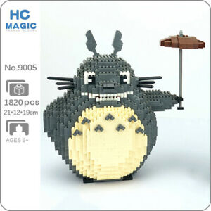 HC Anime My Neighbor Totoro Cat Animal Pet DIY Mini Diamond Blocks Building Toy