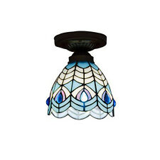 Tiffany Pyramid Corridor Ceiling Pendant Light Balcony Bedroom Ceiling Lamp