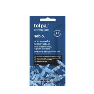 TOLPA DERMO FACE SEBIO NIGHT MASK SEBUM BLOCKER NOCNA MASKA BLOKER SEBUM 8 ML