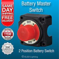 Battery Master Switch Boat Marine Caravan Kill Switch Isolator 12v & 24v 250 Amp