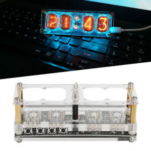 IN-12  Tube Clock Seven-color RGB LED Nixie Clock IN-12B Support Micro USB