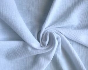 Organic Double Gauze 100% Cotton Fabric - Summer - Lightweight, Free P&P