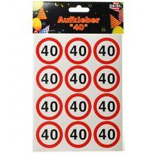 Sticker Verkehrsschild Zahl 40 (udo Schmidt #sticker# 11487)