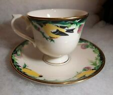 """1993 Lenox """"Birds of America"""" Gold Finch Cup and Saucer"""
