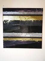 Peinture tableau abstrait contemporain a l`huile format 50/50 cm