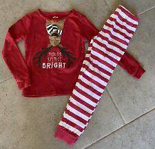 Gymboree Reindeer Striped Two Piece Pajama Set Size 6 (W62)