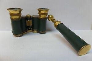 Antique Carl Zeiss Jena Teleater 3x Opera Glass Binocular & Handle