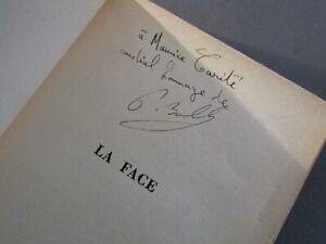ENVOI de PIERRE BOULLE -LA FACE-ÉDITION ORIGINALE en S.P.-1953-LITTÉRATURE