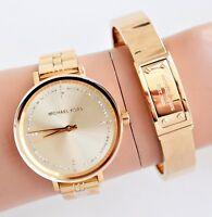 Michael Kors Reloj Mujer MK3792 Bridgette Acero Inox. Color: Oro / Cristal Nuevo