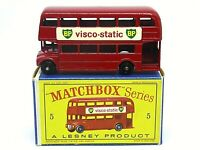 Matchbox Lesney No.5c AEC London Routemaster Bus In Type 'D2' Series Box