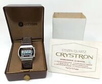 Orologio Citizen Crystron lc 50-1131 watch vintage clock stainless steel montre