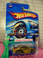 htf 2006 Hot Wheels HONDA CIVIC SI #028 oc☆Gold; oh5☆#28 First Editions