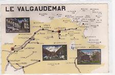CPSM 05800 LE VALGAUDEMAR Carte géographique 3 vues Edt ABEIL