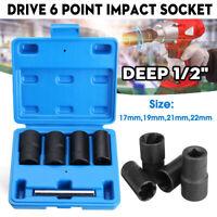 Drive Impact Twist Socket Locking Wheel Nut Remover 1/2'' 17mm 19mm 21mm 22mm <