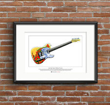 Jimmy Page's 1959 Fender Telecaster Limited Edition Fine Art Print A3 size