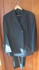 Brooks Brothers Brookscool Black Light Grey Pinstripe Suit Mens 46R 40 X 27W